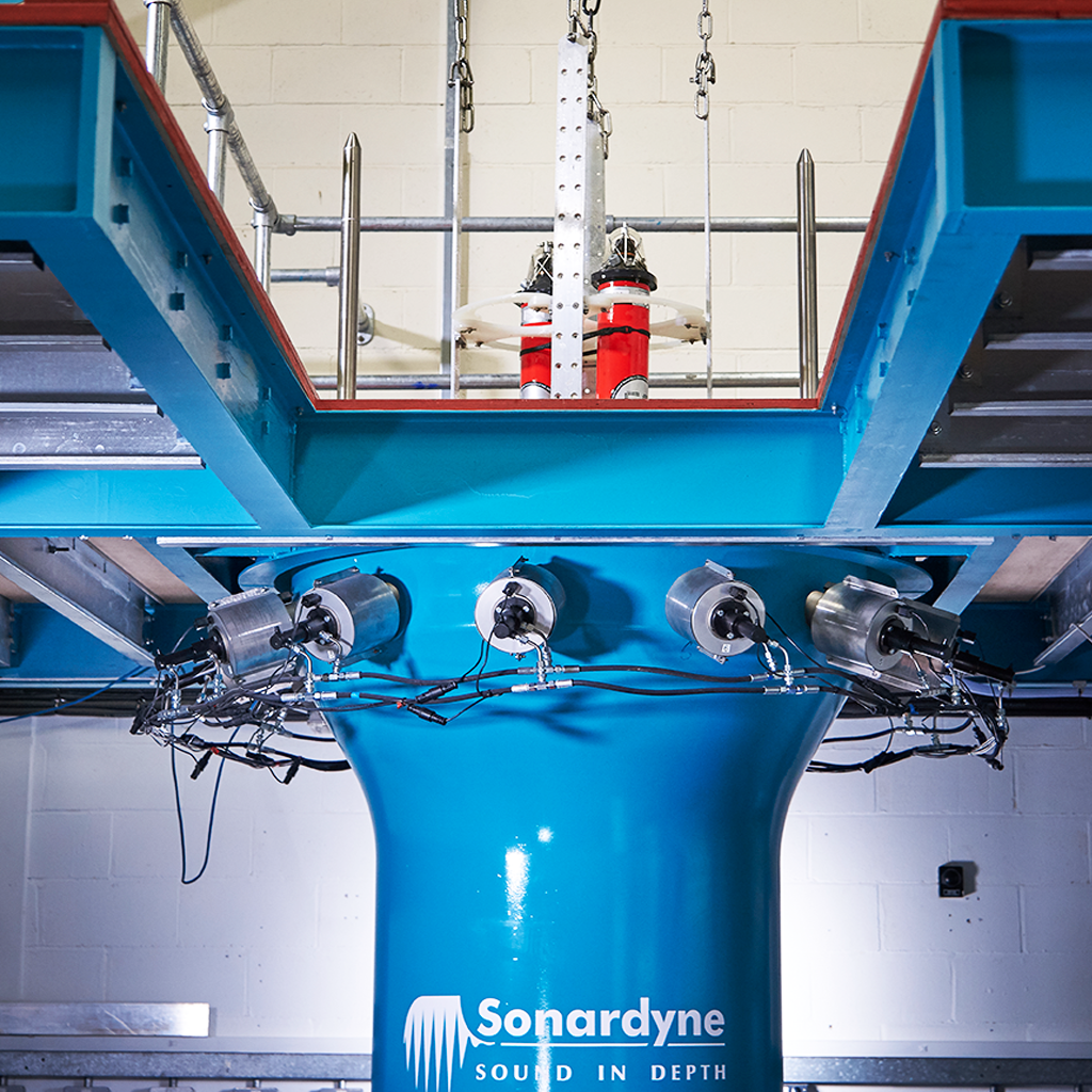 Hydrostatic pressure testing subsea sonar technology and equipment