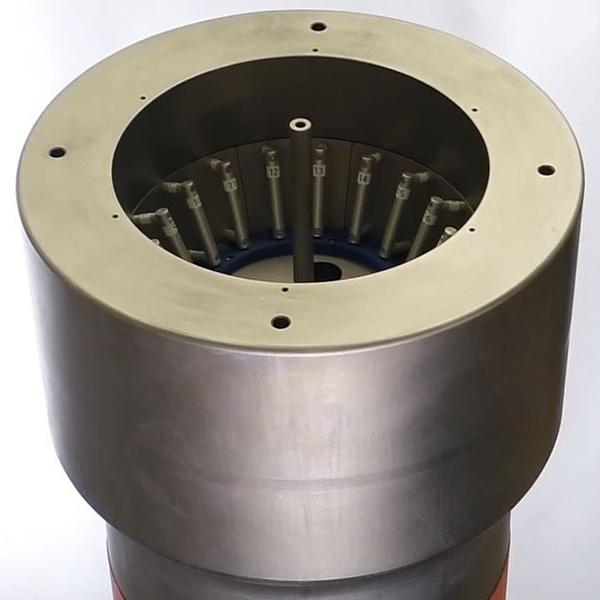 Pressure vessel testing distributed buoyancy modules